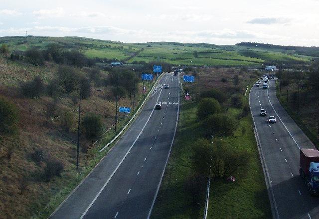 A627M motorway, Rochdale