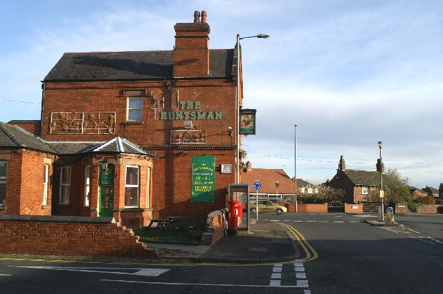 At the junction of the A58 and the A599