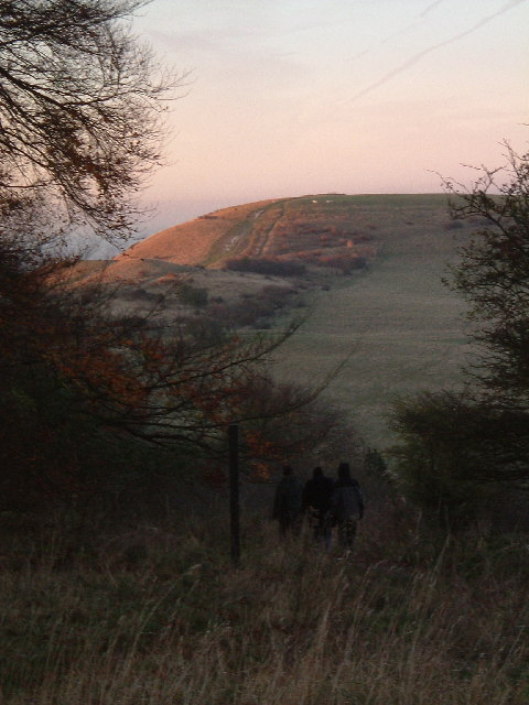 Ivinghoe Beacon in autumnal evening sunshine