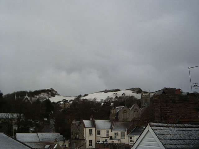 Snowy view of Ilfracombe