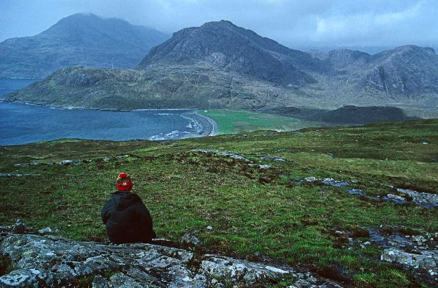 Am Mam with Cuillin Hills in background