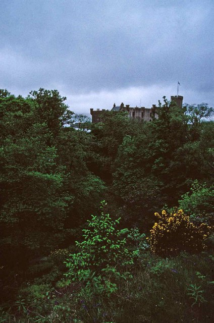 Dunvegan Castle, Isle of Skye, from the East side