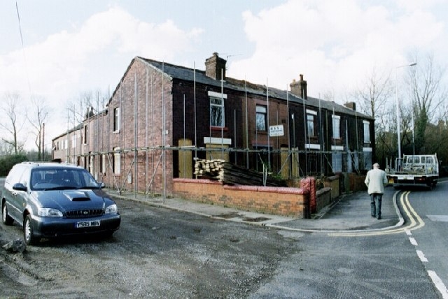 Houses on the corner of Warrington Road and Burgess Street