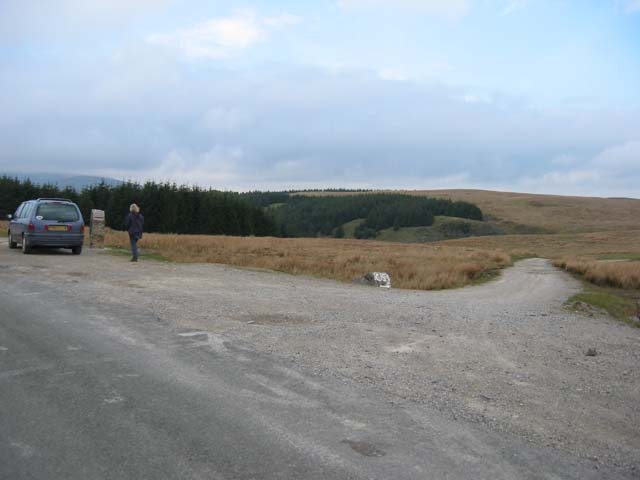 Road near Trefil Quarries