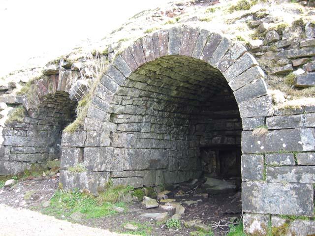 Abandoned lime kilns near Trefil