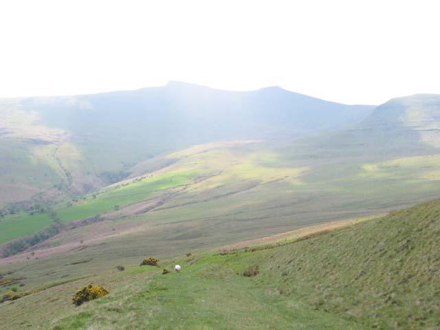 Footpath into Cwm Llwch