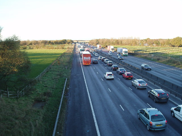 M6 from King's Lane, looking north
