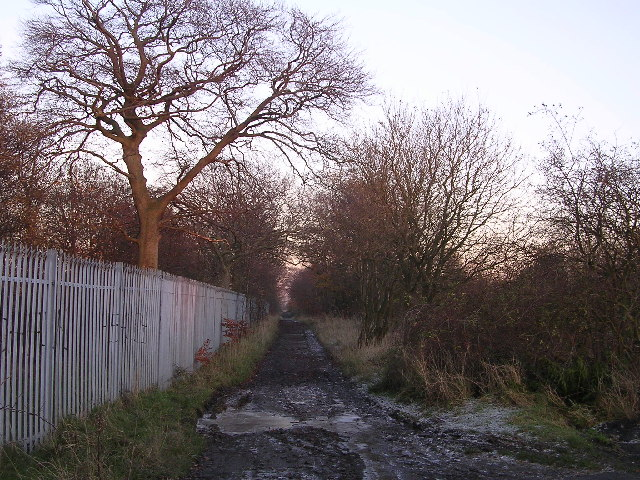 Lane alongside playing fields