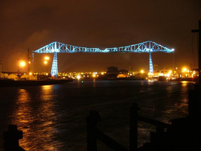 Transporter Bridge Dressed up for the Night