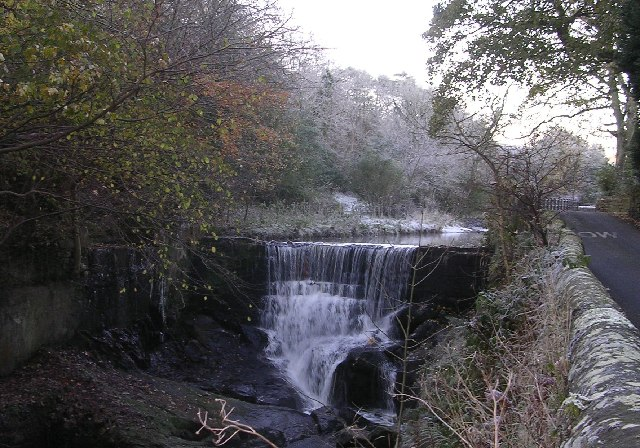 Waterfall on Pendle Water at Roughlee