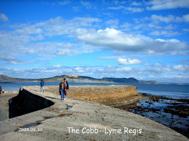 The Cobb..Lyme Regis.....close up from prom