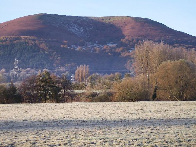 Blorenge from Abergavenny, Monmouthshire