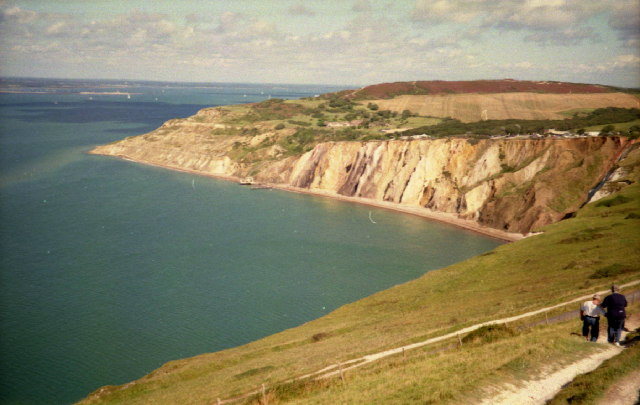 Alum Bay viewed from West High Down