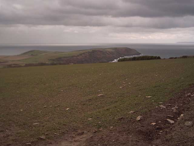 View of Baggy Point from Pickwell Down