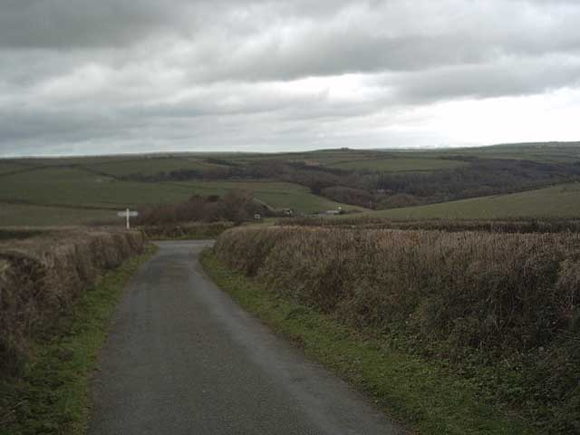 View of Spreacombe from Pickwell Down