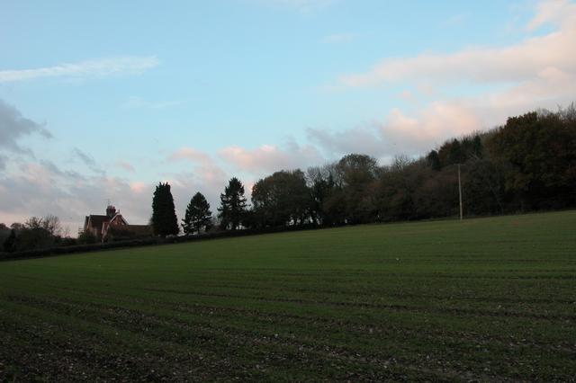 Looking towards Wick farm, near Finchdean.