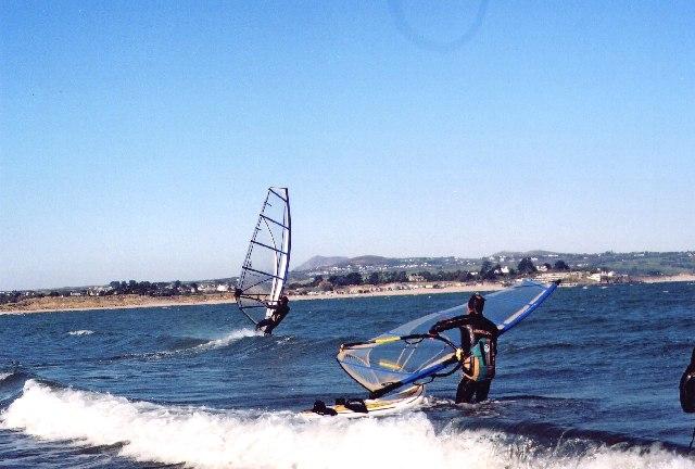 Windsurfers near Penrhyn Du