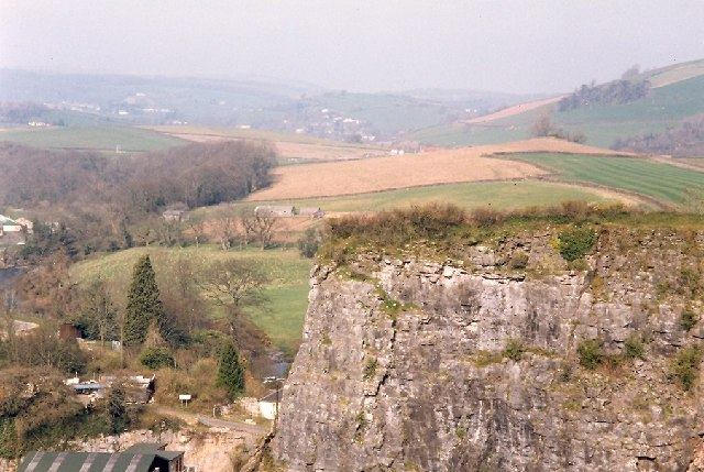 Quarry face near Buckfastleigh churchyard