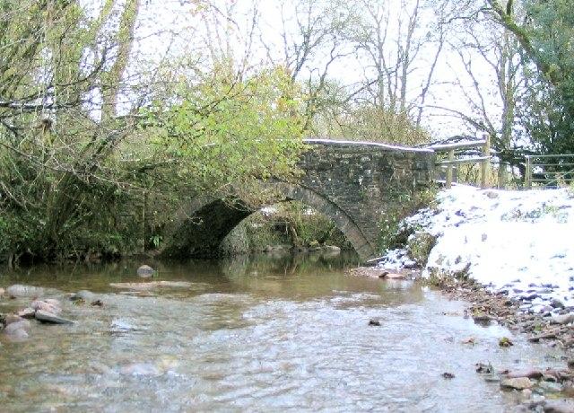 Farm track bridge over river Cennen at Glancennen Uchaf