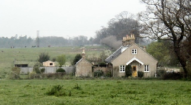 Cottages near Bulcamp Farm