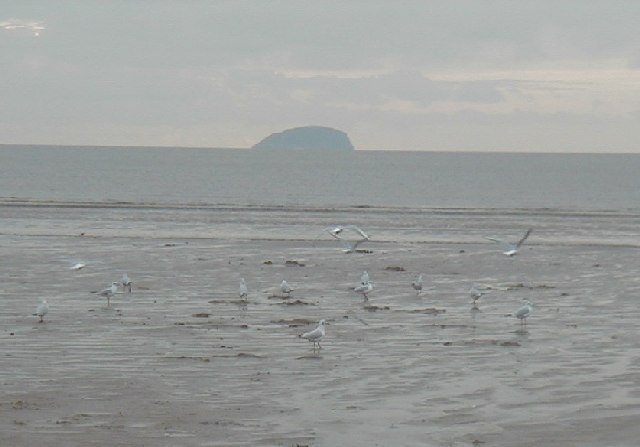 Steepholm from the beach at Weston Super Mare