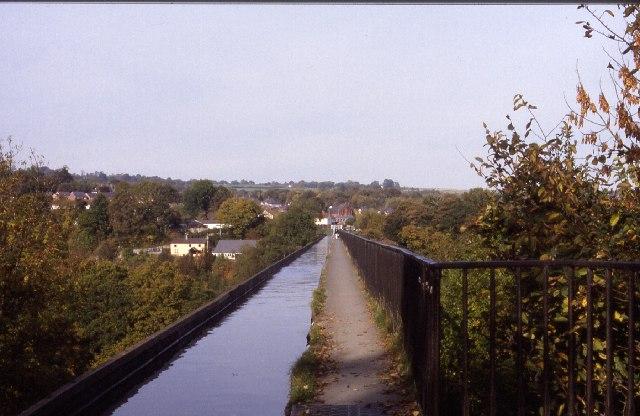 About to walk across Pontcysyllte Aqueduct