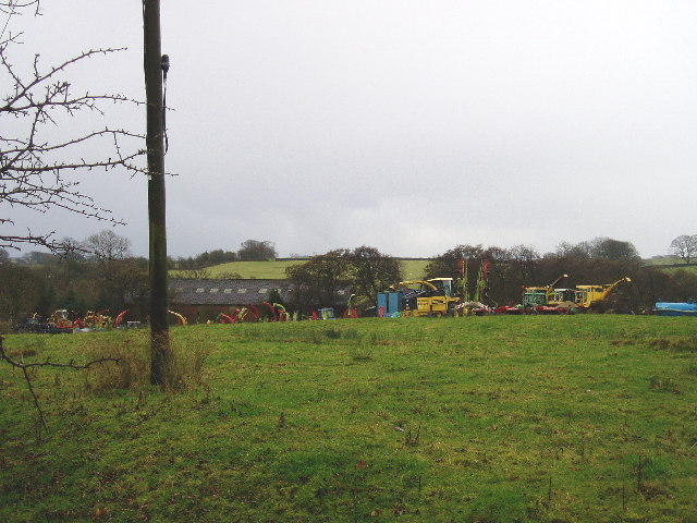 Agricultural machinery at Lanshaw