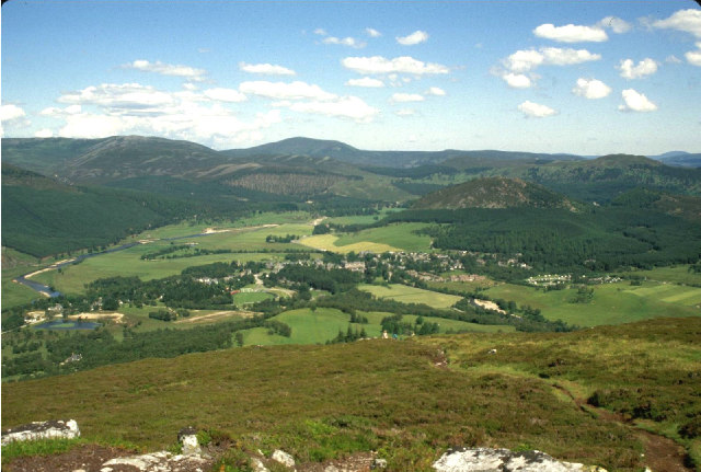 Braemar from the top of Morrone.