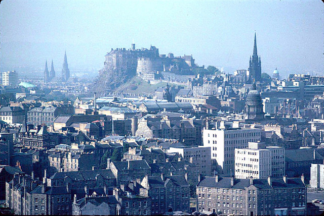Edinburgh from The Salisbury Crags.