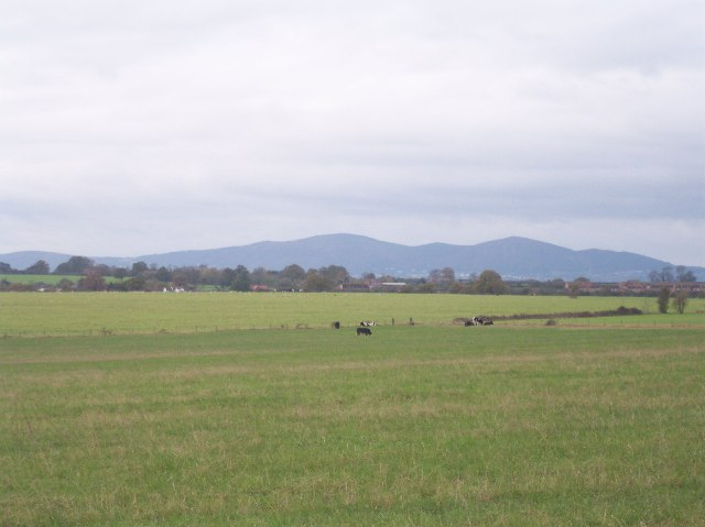 View from Stoulton of The Malvern Hills