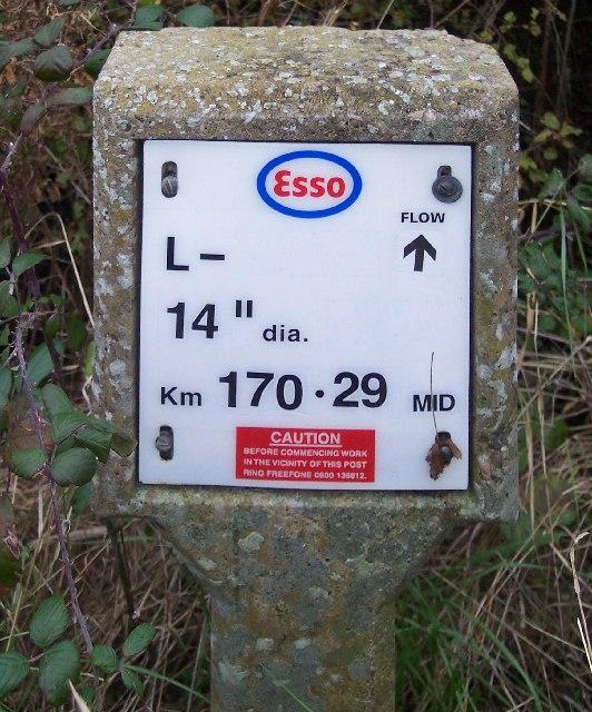 ESSO Pipeline Marker Post