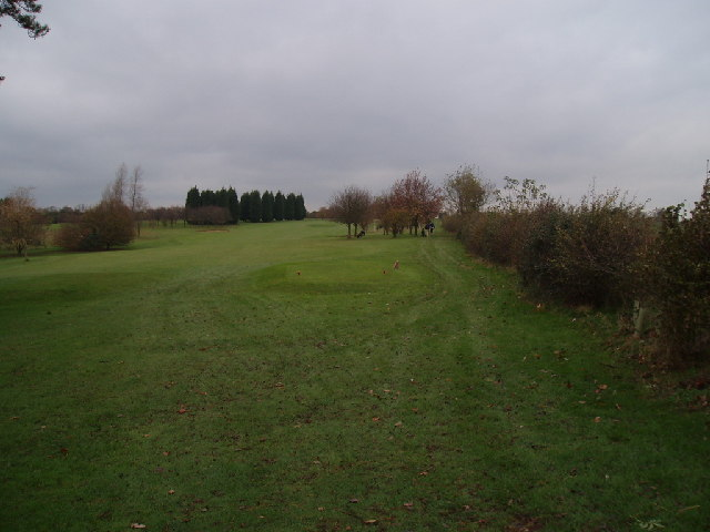 Golf course by College Farm