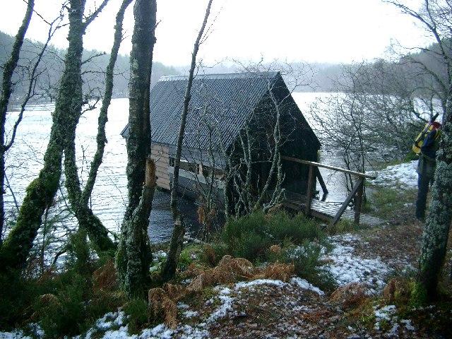 Boathouse on Loch na Crann