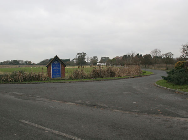 Entrance to Bolney Grange hotel.
