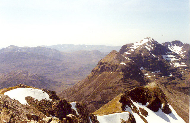 Looking west from Spidean Coire nan Clach