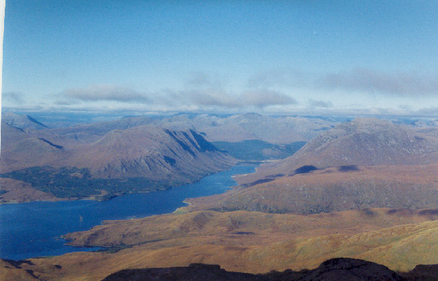 View north from summit of Ben Cruachan