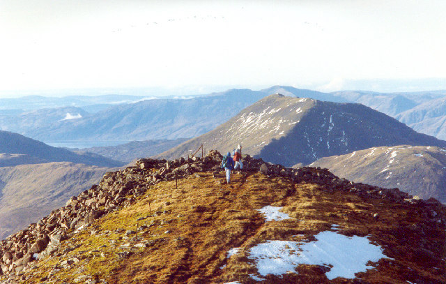 View west from summit of Sgurr na h-Ulaidh (Peak of the treasure) Glencoe