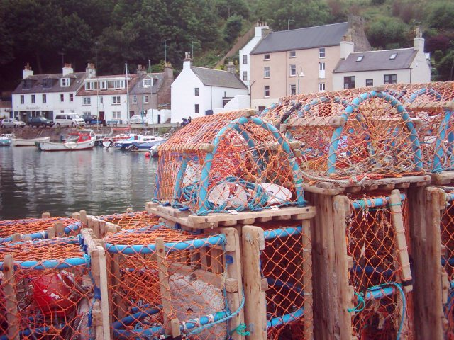 Lobster pots, Stonehaven harbour