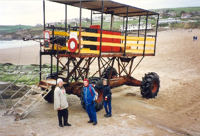 The contraption that takes passengers to Burgh Island at high tide