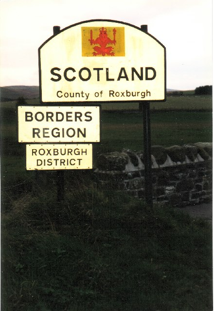 Scotland Sign on Coldstream Bridge