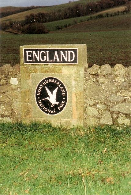 England Sign on Coldstream Bridge