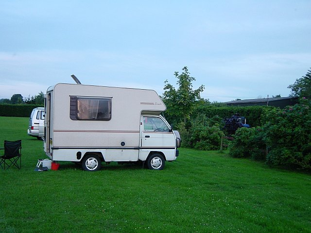 Campsite by the Sherborne Causeway