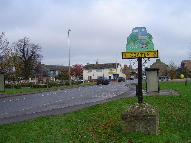 Coates Road (A605), Coates