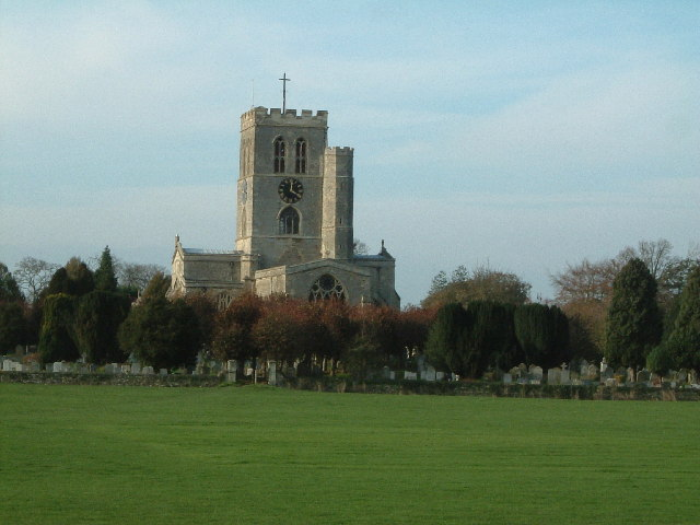 Church of St. Mary the Virgin, Thame across fields