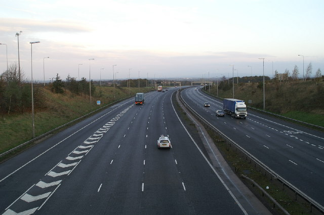 A50/M56/M6 Junction, looking north on the M6