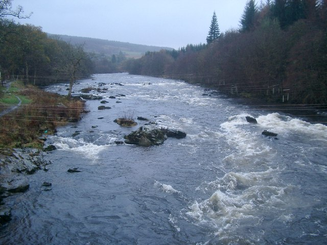 River Tay rapids at Grantully