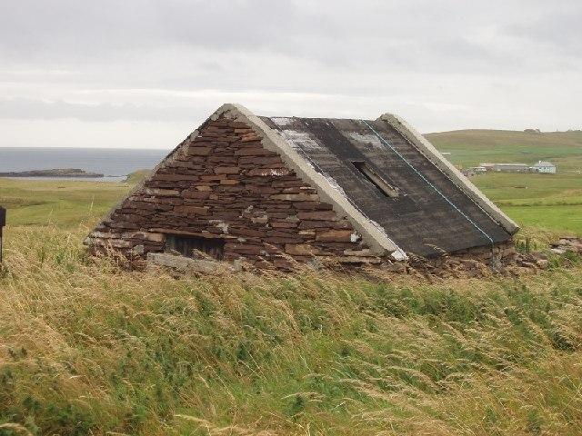 Farm buildings at Fladdabister, Shetland