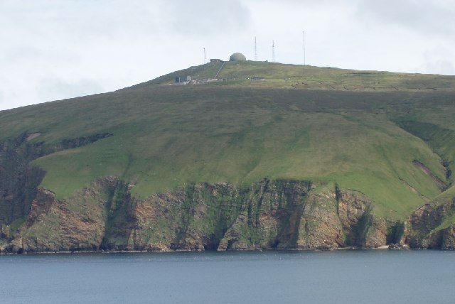 Military radar installation on Saxa Vord