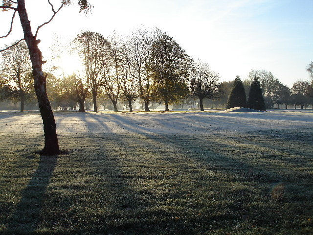 Frosty morning over Olton Golf Course, Solihull