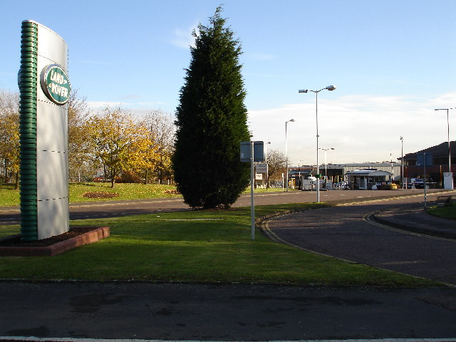 Main Entrance into The Land Rover Works, Solihull